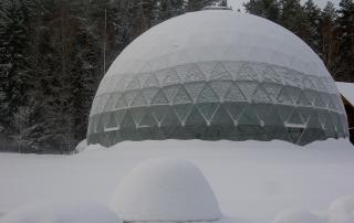 Merkinės piramidė žiemą